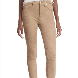 7 for all mankind snakeskin faux leather pants